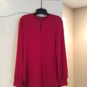 Red Ralph Lauren Dressy Blouse NWT S